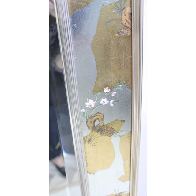 1970s Vintage La Barge Églomisé Mirror For Sale - Image 5 of 13