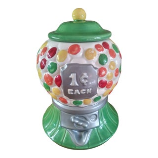 Retro Pop Art California Pottery Gumball Cookie Jar For Sale