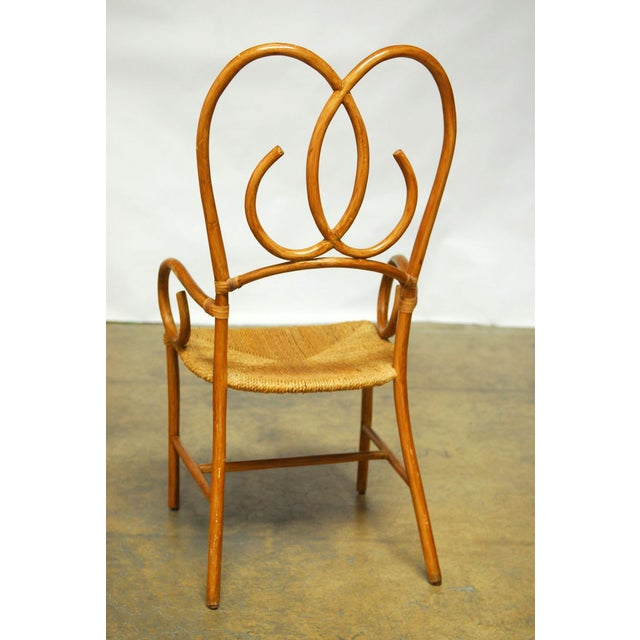 French Art Deco Style Rattan Armchairs - Pair - Image 10 of 10