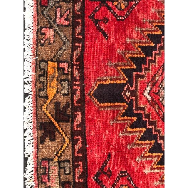 Vintage Persian Hamadan Runner - 3′3″ × 9′5″ - Image 3 of 11