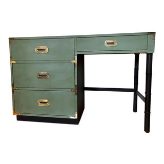 Campaigner Mid Century Writing Desk For Sale