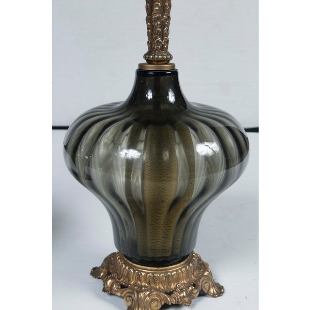 Late 20th Century 1940's Italian Venetian Lamps - a Pair For Sale - Image 5 of 7