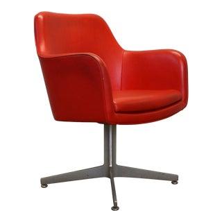 GoodForm Orange Mid-Century Modern Swivel Armchair Lounge For Sale