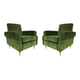 A Pair of Armchairs by Milo Baughman, Italy 1950