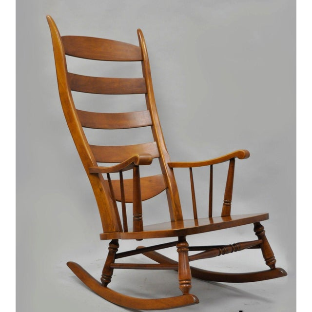 Mid-Century Tell City Maple Sculptural Ladder Back Rocking Chair For Sale - Image 11 of 11