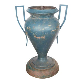 Art Deco American Cast Iron Urn For Sale