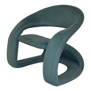 Louis Durot Pierre Paulin Style Sculptural Cantilever Lounge Chair For Sale