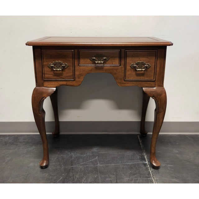 Davis Cabinet Co Solid Walnut Queen Anne Console Table For Sale - Image 12 of 13