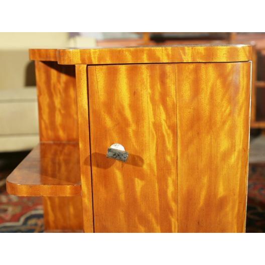 Art Deco Burl Wood Nightstands - A Pair - Image 4 of 8