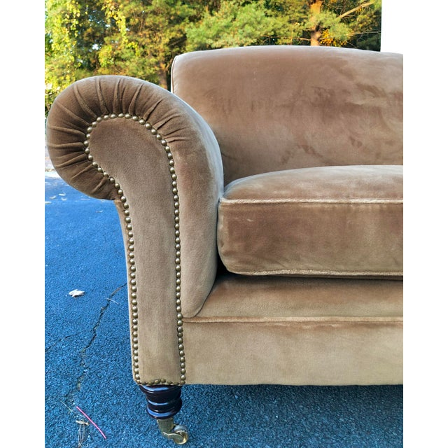 George Smith Mohair Elverdon Sofa For Sale In New York - Image 6 of 8