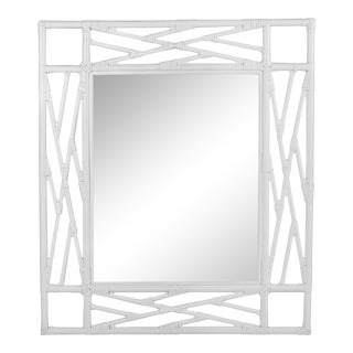 Chippendale Mirror - White For Sale