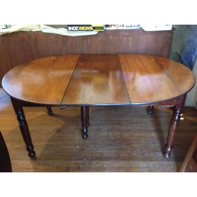 Antique 1860 Black Walnut Extendable Farm Dining Table For Sale - Image 12 of 12