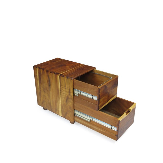 Jim Sweeney Koa Filing Cabinets - a Pair For Sale In San Francisco - Image 6 of 11