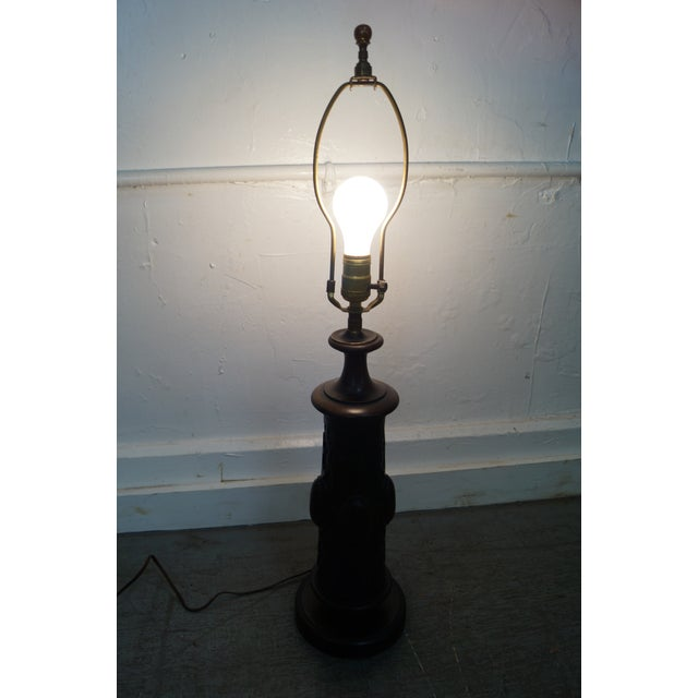 Antique Renaissance Style Carved Walnut Table Lamp - Image 7 of 10