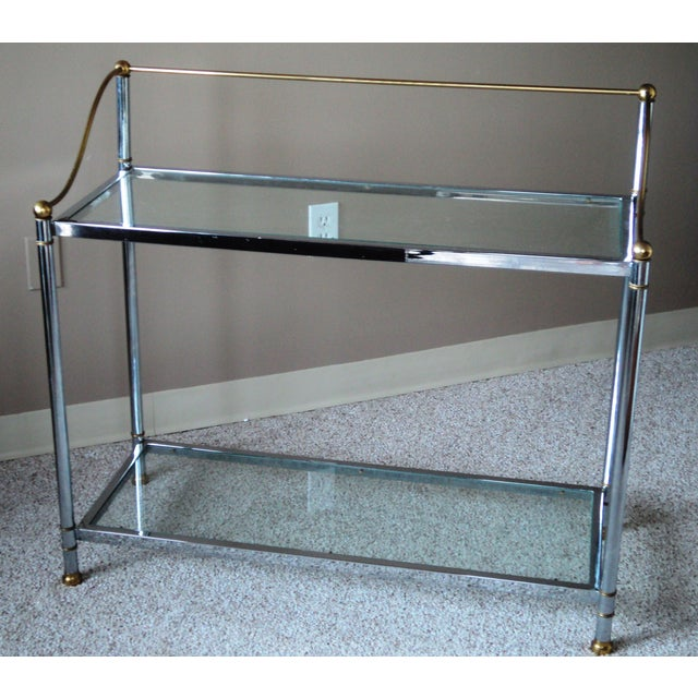 Vintage Chrome & Brass Console - Image 5 of 11