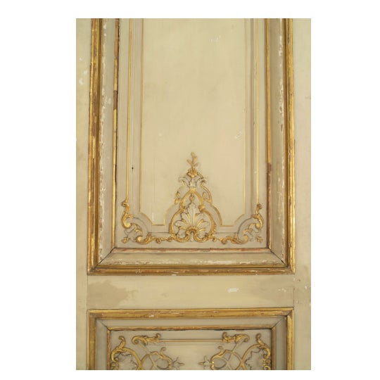 French Set of Eight Louis XV Style Parcel-Gilt Doors With Ormolu Finishes For Sale - Image 3 of 7