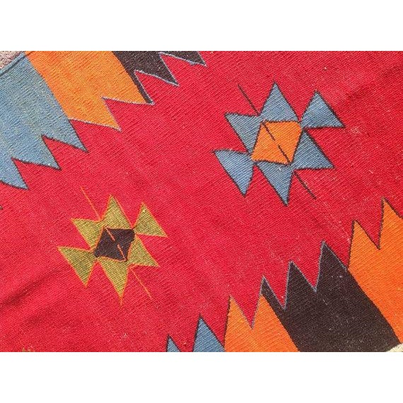 Vintage Turkish Kilim Rug - 2′9″ × 3′6″ - Image 5 of 6