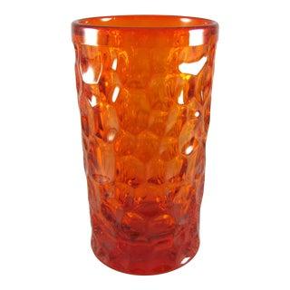 Mid Century Ben Seibel Fostoria Pebble Beach Orange Iced Tea Tumblers - Set of 8 For Sale