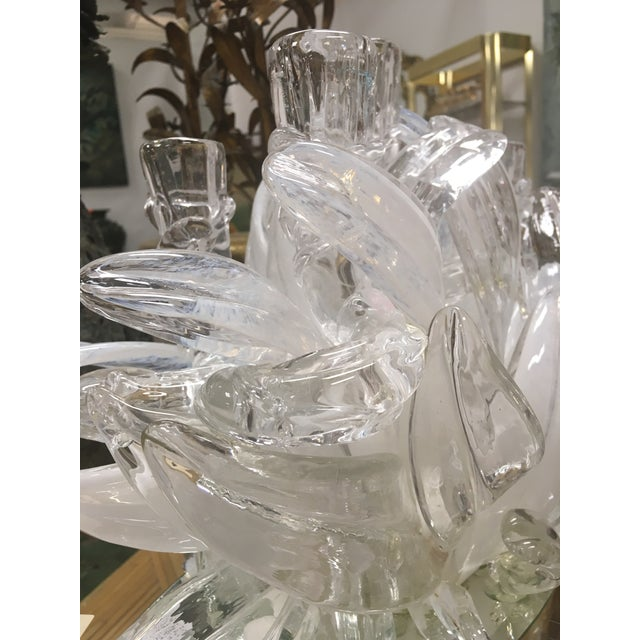 White 1970s Vintage Murano Candelabra For Sale - Image 8 of 13