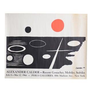 1965 Alexander Calder Exhibition Signed Lithograph Print