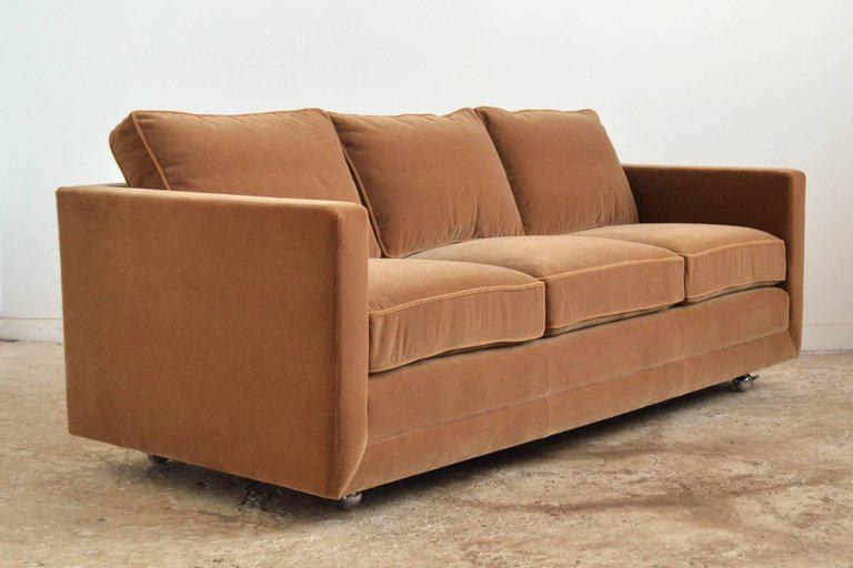 Ward Bennett Camel Mohair Sofa By Brickel   Image 2 Of 8