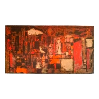 "Dorothy Bowman ""Metropolis"" Abstract Serigraph For Sale"