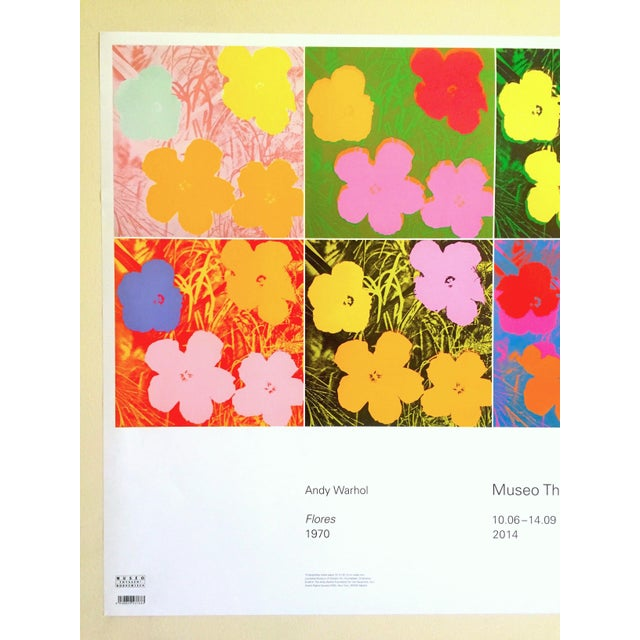 """This Andy Warhol Foundation """" Myths of Pop """" Museo Thyssen lithograph print Pop Art exhibition poster """" Flowers """" 1970, is..."""