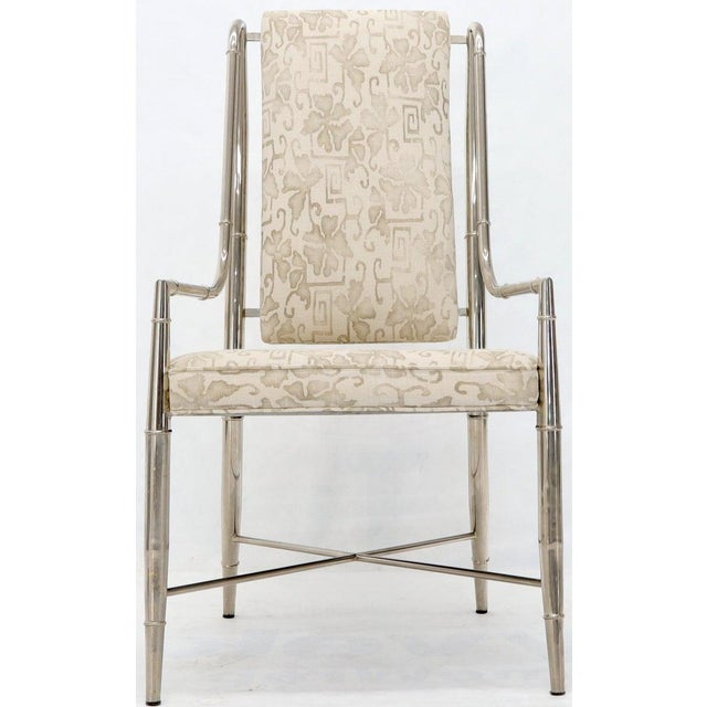 Imperial Dining Room Chair by Weiman / Warren Lloyd for Mastercraft in Chrome For Sale - Image 12 of 13