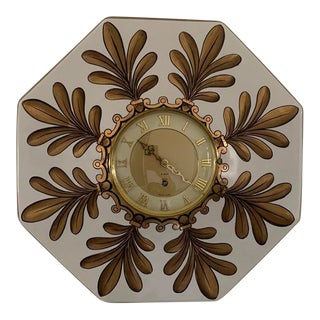 1960s Charleton Hand Painted 8 Day Wind Up Clock For Sale