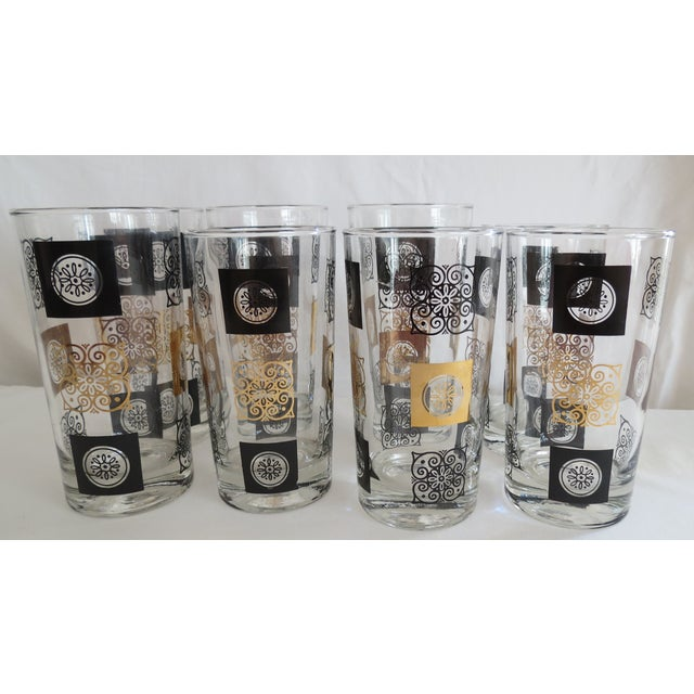 Mid-Century Modern Highball Glasses - Set of 8 - Image 2 of 7
