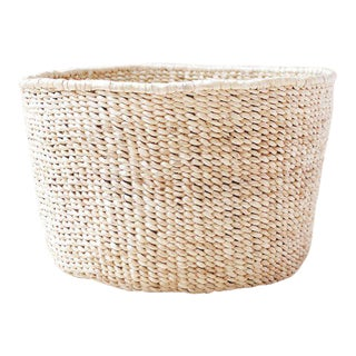 Indego Africa Handwoven Banana Leaf Floor Basket For Sale