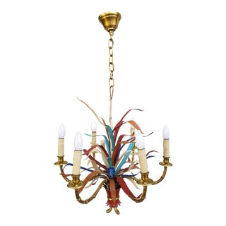 "Maison Bagues ""Feuillage"" 6 Lights Chandelier For Sale"