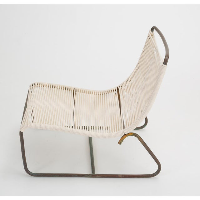 Pair of Walter Lamb Sleigh Chairs With Single Ottoman For Sale - Image 9 of 12
