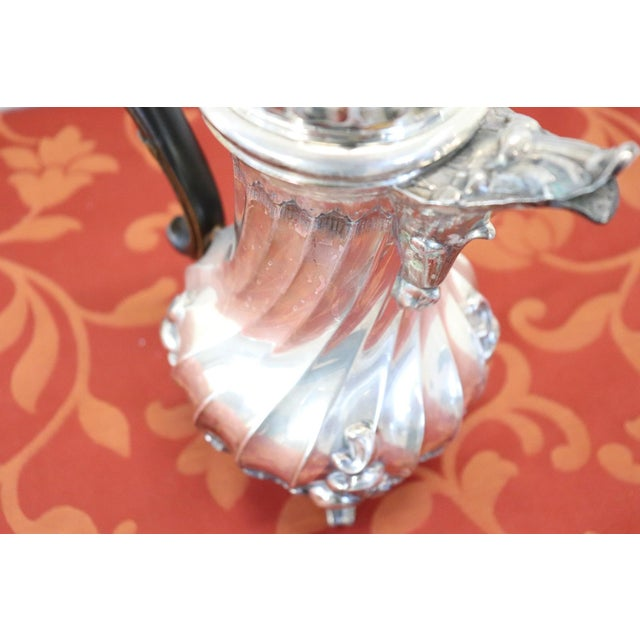 20th Century Italian Baroque Style Silver 800 Coffee Pot For Sale - Image 4 of 13