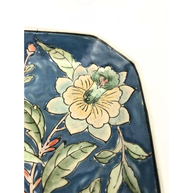 1950s Asian Hand-Painted Dish For Sale - Image 5 of 7