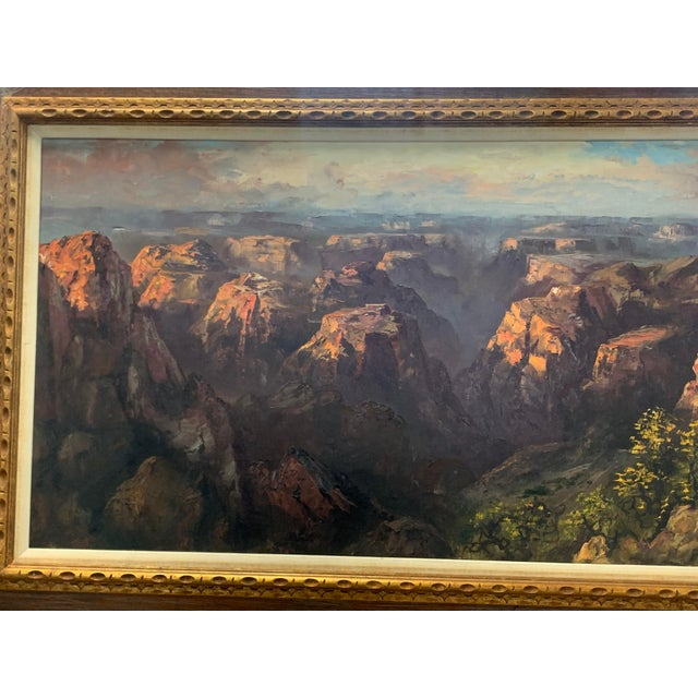 For sale is a large and beautiful painting by Segundo Huertas of the Grand Canyon for a fraction of gallery retail....