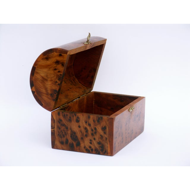 Decorative Juniper Burl Wood Box - Image 7 of 10