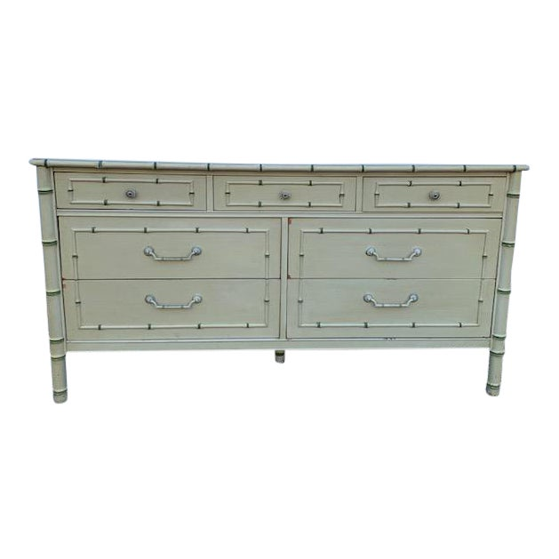 1970s Faux Bamboo Allegro by Thomasville Dresser For Sale