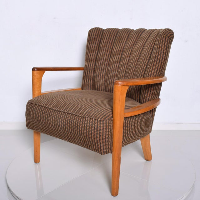 1950s 1950s Mid Century Modern Heywood Wakefield Maple Lounge Chair For Sale - Image 5 of 12