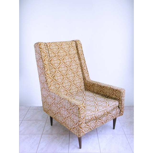 Wood Mid Century Modern Chair Edward Wormley for Dunbar Style High Back Lounge Chair For Sale - Image 7 of 7