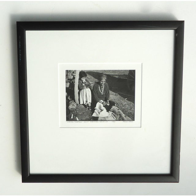"""1950s Native American Photograph, """"Learning Tradition"""" by Harvey Caplin For Sale - Image 4 of 4"""