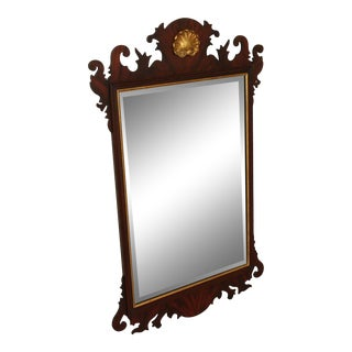 Henkel Harris Chippendale Style Mahogany Wall Mirror For Sale