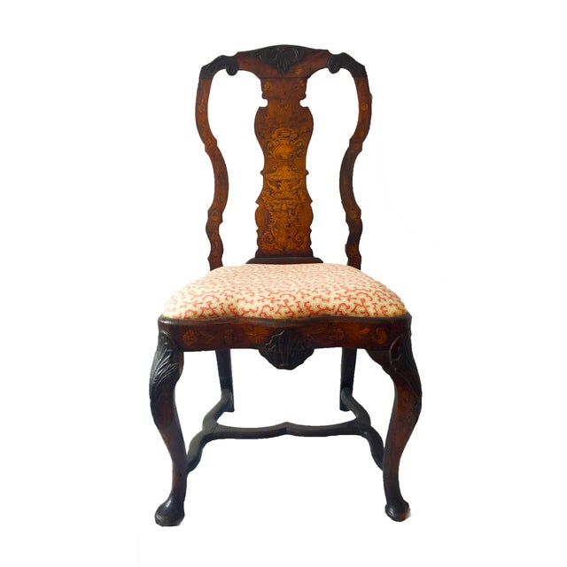 Marquetry Inlaid Chairs - A Pair - Image 1 of 4