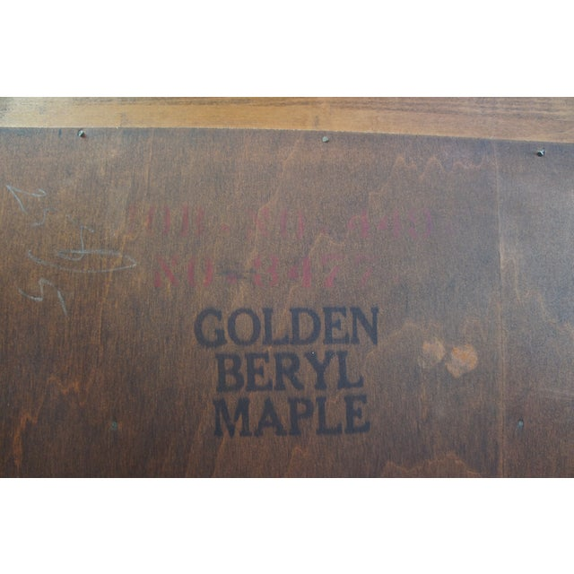 Early American Willett Furniture Golden Beryl Maple Bookcase For Sale - Image 6 of 10