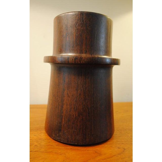 Danish Modern Rare Dansk Wenge Wood Ice Bucket by Jens Quistgaard For Sale - Image 3 of 13
