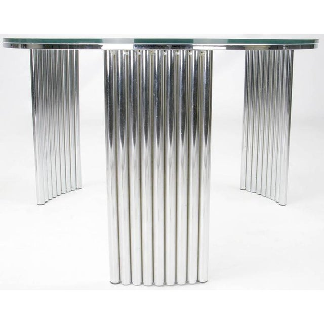 Art Deco Art Deco Tubular Chrome Coffee Table in the Manner of Vermillion of LA For Sale - Image 3 of 4
