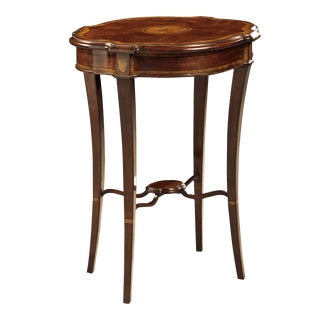 Scarborough House Crotch Mahogany Side Table For Sale