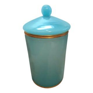 Vintage Italian Opaline Cylinder Box