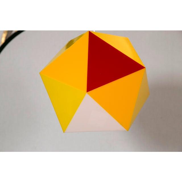 Geodesic Yellow & Orange Acrylic Pendant Light - Image 3 of 6