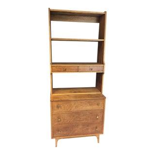 Mid Century Modern Broyhill Brasilia 2 Piece Hutch Cabinet